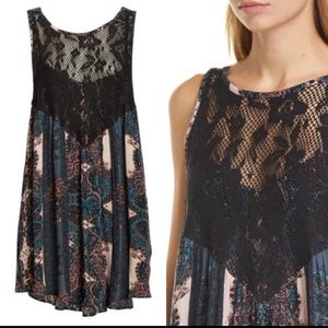 💖Free People Count me in Trapeze Tunic Dres…